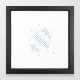 #198 Summer rain – Geometry Daily Framed Art Print