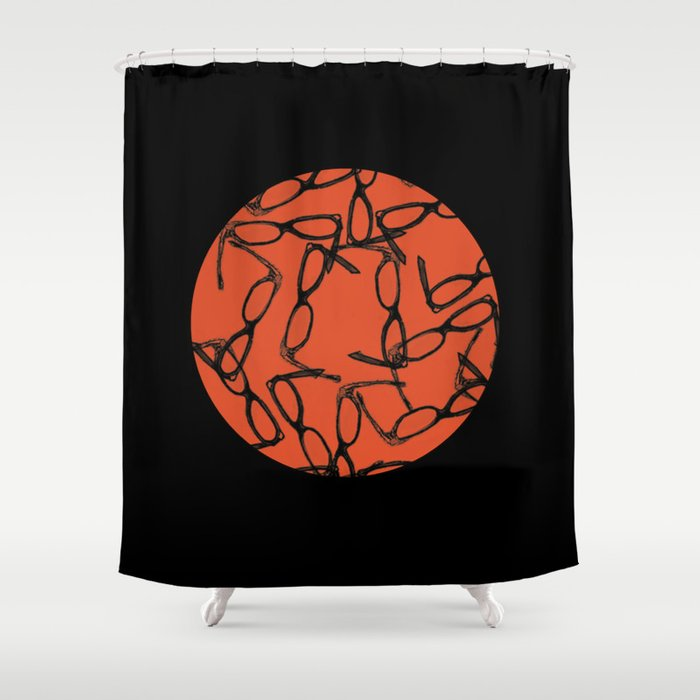 Hipster Bloodbath Shower Curtain
