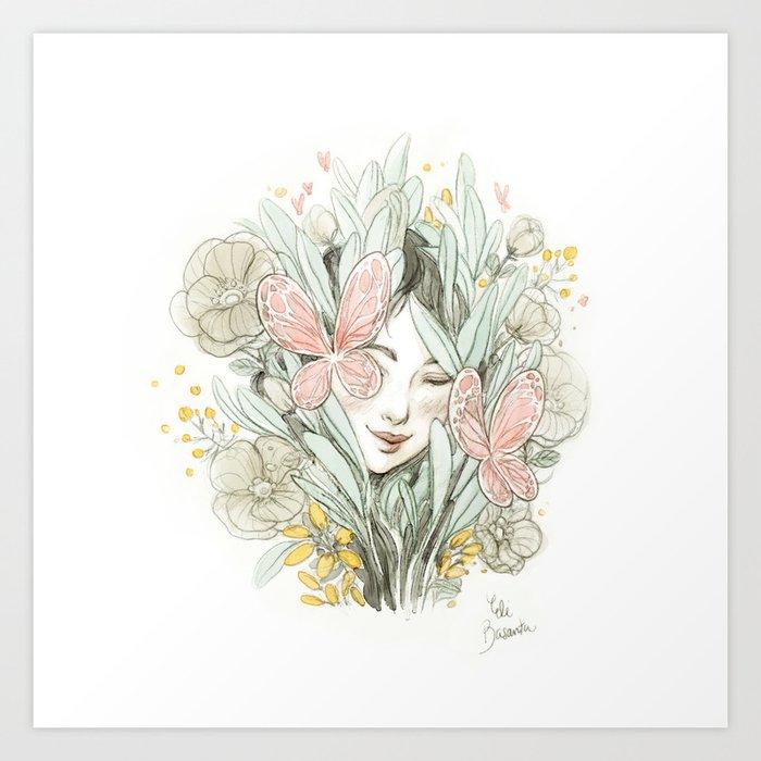 Flora And Fauna Art Print By Elibasanta Society6