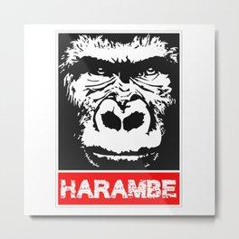 Remember Harambe Metal Print