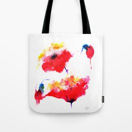 Two red flowers Tote Bag