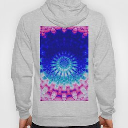 Concentric Field (blue-pink) Hoody