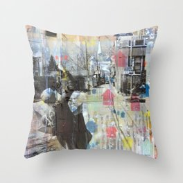 Belmont Ave Throw Pillow