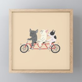 tandem bike Framed Mini Art Print