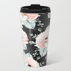 Night Succulents Metal Travel Mug