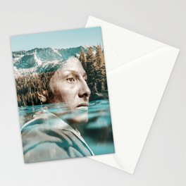 indian portrait double exposure Stationery Cards