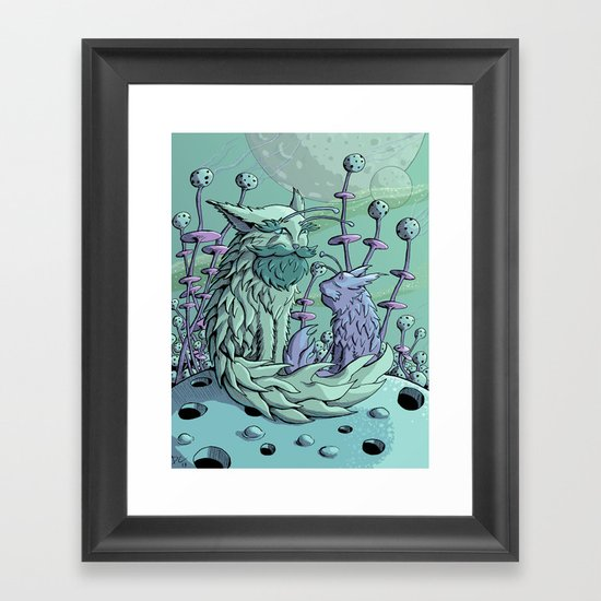 Cosmic Father Cat Framed Art Print