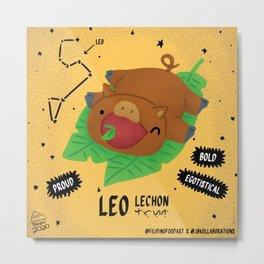 Filipino Food Zodiac: Leo Lechon Metal Print