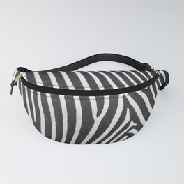 Animal Photography | Zebra | Minimalism | Wildlife Art | Black and White Fanny Pack