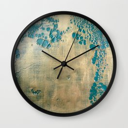 Melting Gold (Florence) Encaustic painting on wood Wall Clock
