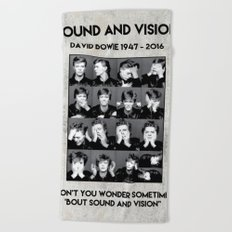 David Bowie : Sound and Vision Beach Towel