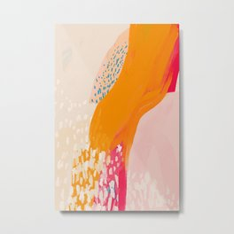 The Abstract Shape Of Spring Metal Print