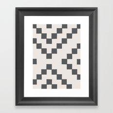 Tiles - in Charcoal Framed Art Print