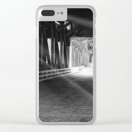 Covered Bridge Radiance Clear iPhone Case