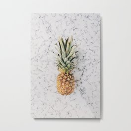 Pineapple Marble Background Metal Print