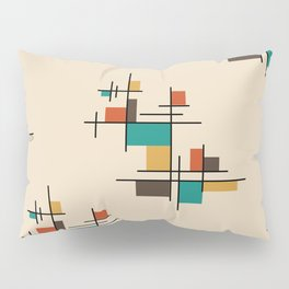 Mid Century Modern Geometric Colorful Pillow Sham