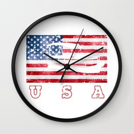 USA Poonton - Flag of America Wall Clock