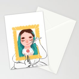 Paint my world Stationery Cards