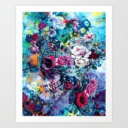 Surreal Skull Art Print
