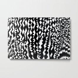 Zebra abstract geometric pattern Metal Print
