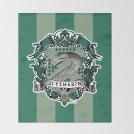 Slytherin Color Throw Blanket