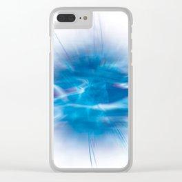 Mystic Blue Clear iPhone Case