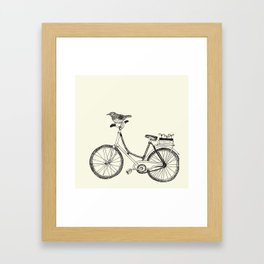 Hand-painted bicycles Framed Art Print