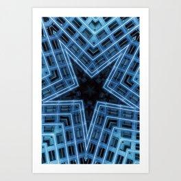 Blue Star 1 Art Print