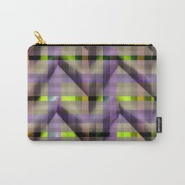 Purple Neon Green checkers paper fold Carry-All Pouch