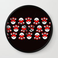 pokeball Wall Clocks featuring Pokeball Print by UMe Images