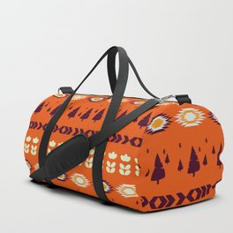 Holiday pattern with Christmas trees Duffle Bag