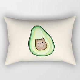 AvoCATo Avocado Cat Kawaii Cute Print Rectangular Pillow