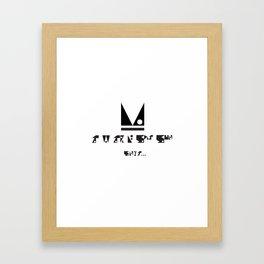 SIMPLE PATTERN_ITS MONDAY Framed Art Print