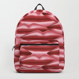 Glossy pink lips Backpack