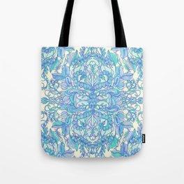 Lilac, Mint & Aqua Art Nouveau Pattern Tote Bag