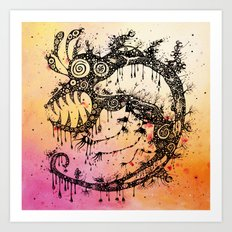 the big monster Art Print