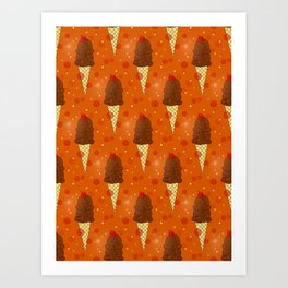 Chocolate Scoops Pattern Art Print
