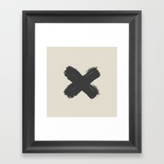 Black Cross Framed Art Print