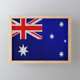 Cracked Australia flag Framed Mini Art Print