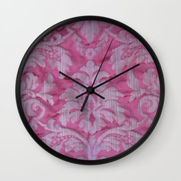Vintage old damask textile Wall Clock
