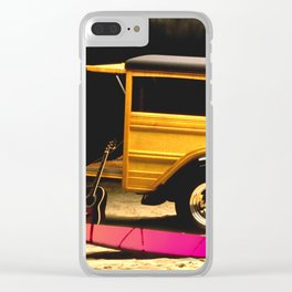 Classic Woody, Surf Boards, and Guitar Clear iPhone Case