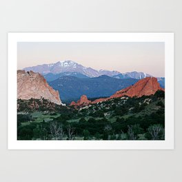 Sunrise at Garden of the Gods and Pikes Peak Art Print