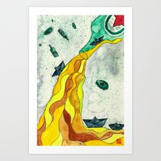 Floating like Alcohol Art Print