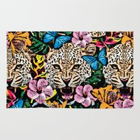 jungle Area & Throw Rugs featuring jungle by Marica Zottino