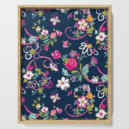 Floral Beauty Serving Tray