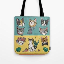 Cats Reunion Tote Bag