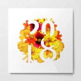 Flower Yellow 2018 - Notebooks & more Metal Print