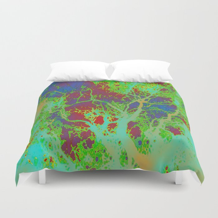 Dotted Leaf  Duvet Cover