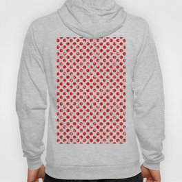 Polka Dot Red and Pink Blotchy Pattern Hoody