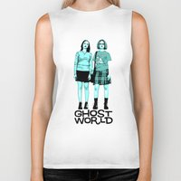 ghost world Biker Tanks featuring Ghost World by joshuahillustration